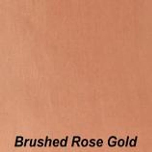 "Chrome Brushed Rose Gold Permanent vinyl - 12"" x 10'"