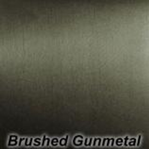 "Chrome Brushed Gun Metal Permanent vinyl - 12"" x 10'"