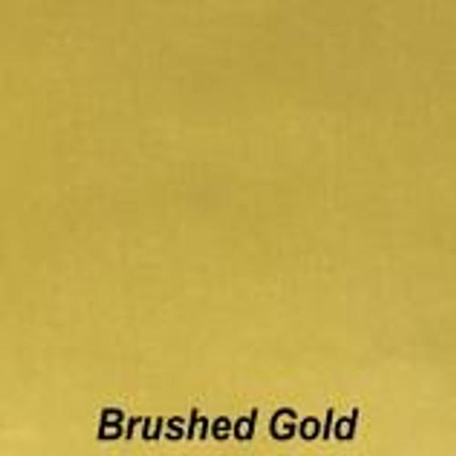 "Chrome Brushed Gold Permanent vinyl - 12"" x 10'"