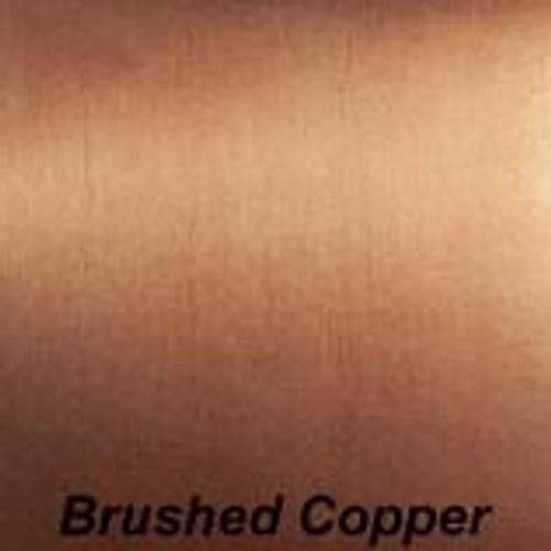 "Chrome Brushed Copper Permanent vinyl - 12"" x 10'"