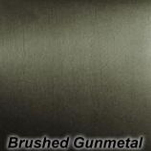 "StarCraft - Chrome Brushed - Gun Metal - Permanent vinyl - 12"" x 12"""