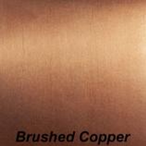 "Chrome Brushed Copper Permanent vinyl - 12"" x12"""