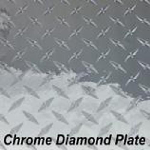"Chrome Diamond Plate Permanent Vinyl - 12"" x 10' Roll"