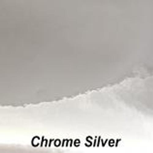 "Chrome Silver Permanent Vinyl - 12"" x 10' Roll"