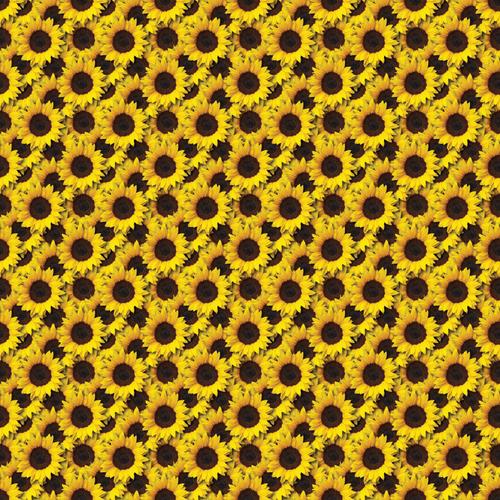 "Printed Pattern Vinyl - Sunflower - 12"" x 12"" - Permanent Vinyl"