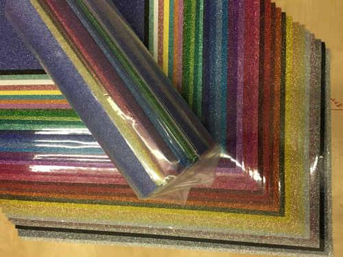 "Siser Glitter HTV All Color Pack (All 39 Colors) 12"" x 20"" Sheets"