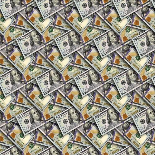 "Printed Pattern - Money - 12"" x 12"" - Permanent Adhesive Vinyl"