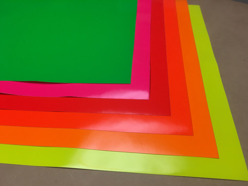 "Oracal 6510 - Fluorescent Permanent - All color Pack - 6 Sheets - 12"" x 12"""