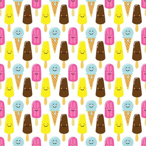 "Printed Pattern - Ice Cream pops - 12"" x 12"" - Permanent Adhesive Vinyl"