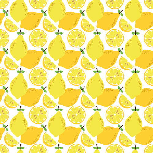 "Printed Pattern - Lemons - 12"" x 12"" - Permanent Adhesive Vinyl"