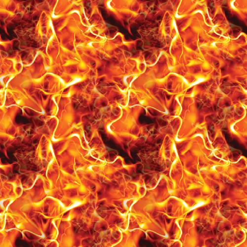 "Printed Pattern - Real Flames - 12"" x 12"" - Heat Transfer Vinyl"