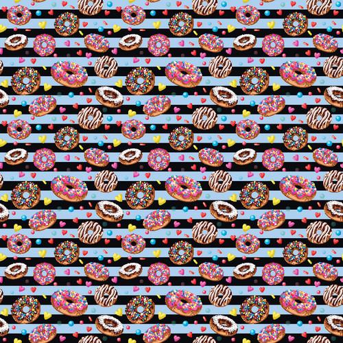 "Printed Pattern - Donuts #1 - 12"" x 12"" - Heat Transfer Vinyl"