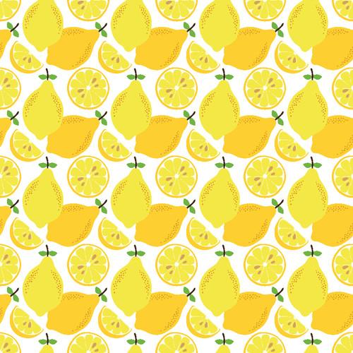 "Printed Pattern - Lemons - 12"" x 12"" - Heat Transfer Vinyl"