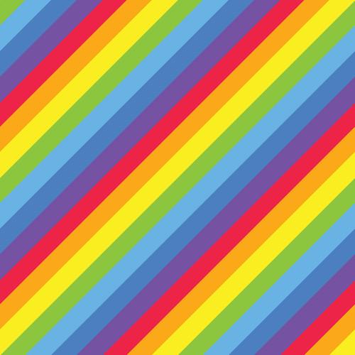 "Printed Pattern - Rainbow Diagonal - 12"" x 12"" - Heat Transfer Vinyl"