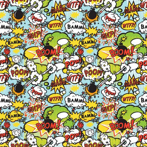 "Printed Pattern - Comic #2 - 12"" x 12"" - Heat Transfer Vinyl"
