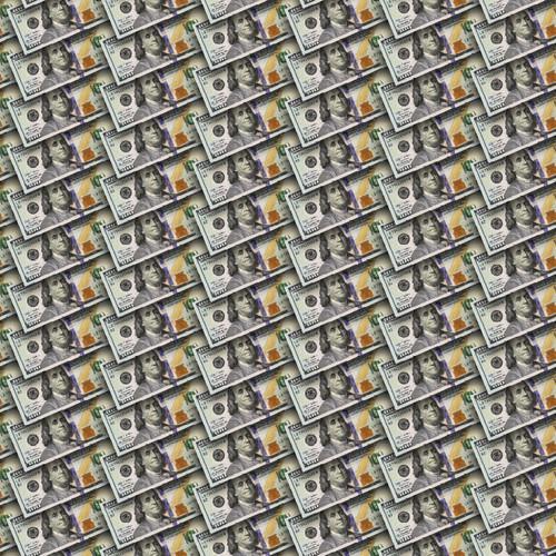 "Printed Pattern - Money #2 - 12"" x 12"" - Heat Transfer Vinyl"