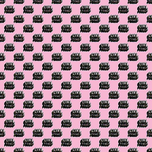 "Printed Pattern - Girl Power - 12"" x 12"" - Heat Transfer Vinyl"