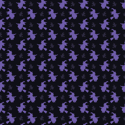 """Printed Pattern - Purple Witches - 12"""" x 12"""" - Permanent Adhesive Vinyl"""