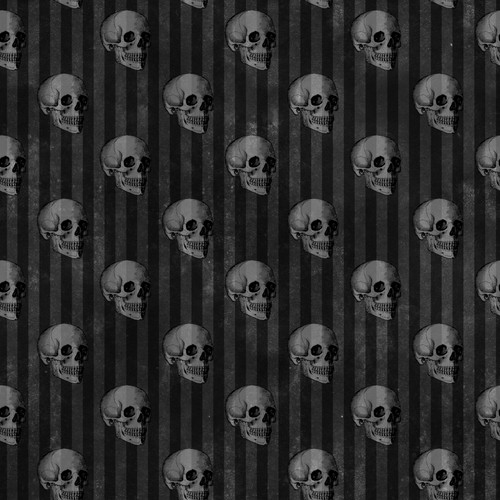 """Printed Pattern - Vintage Halloween 007 - 12"""" x 12"""" - Permanent Adhesive Vinyl"""
