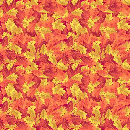 "Printed Pattern - Fall Leaves - 12"" x 12"" - Heat Transfer Vinyl"