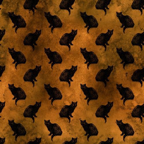 """Printed Pattern - Vintage Halloween 000 - 12"""" x 12"""" - Heat Transfer Vinyl"""