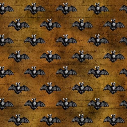 """Printed Pattern - Vintage Halloween 015 - 12"""" x 12"""" - Heat Transfer Vinyl"""