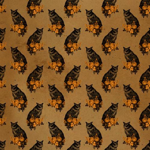"""Printed Pattern - Vintage Halloween 023 - 12"""" x 12"""" - Heat Transfer Vinyl"""