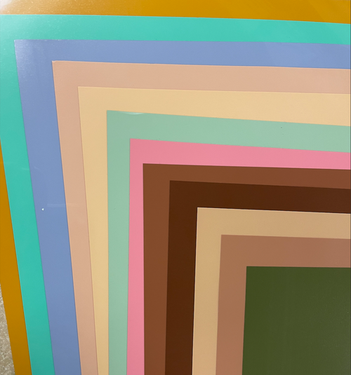 """New EasyWeed Colors Color Pack - 12"""" x 15"""" - 12 sheets"""