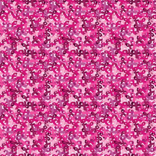 "Printed Pattern - Pink ribbon Mix - 12"" x 12"" - Heat Transfer Vinyl"