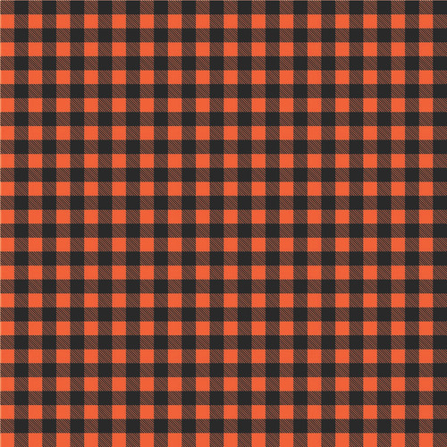 "Printed Pattern - Small Buffalo Orange - 12"" x 12"" - Heat Transfer Vinyl"