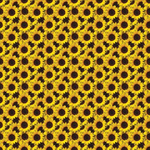 "Printed Pattern - Sunflowers - 12"" x 12"" - Heat Transfer Vinyl"