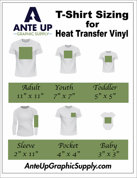 T-Shirt Design Size and Placement Chart
