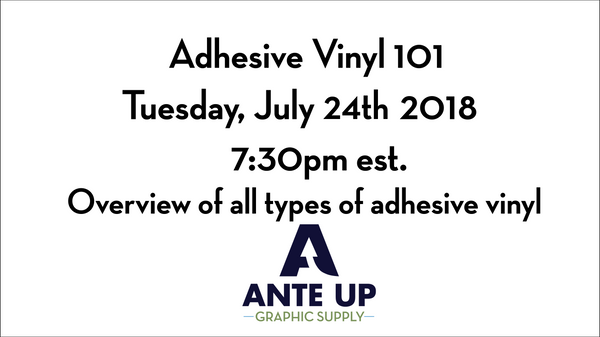 Adhesive vinyl 101  - Free overview of everything adhesive vinyl.