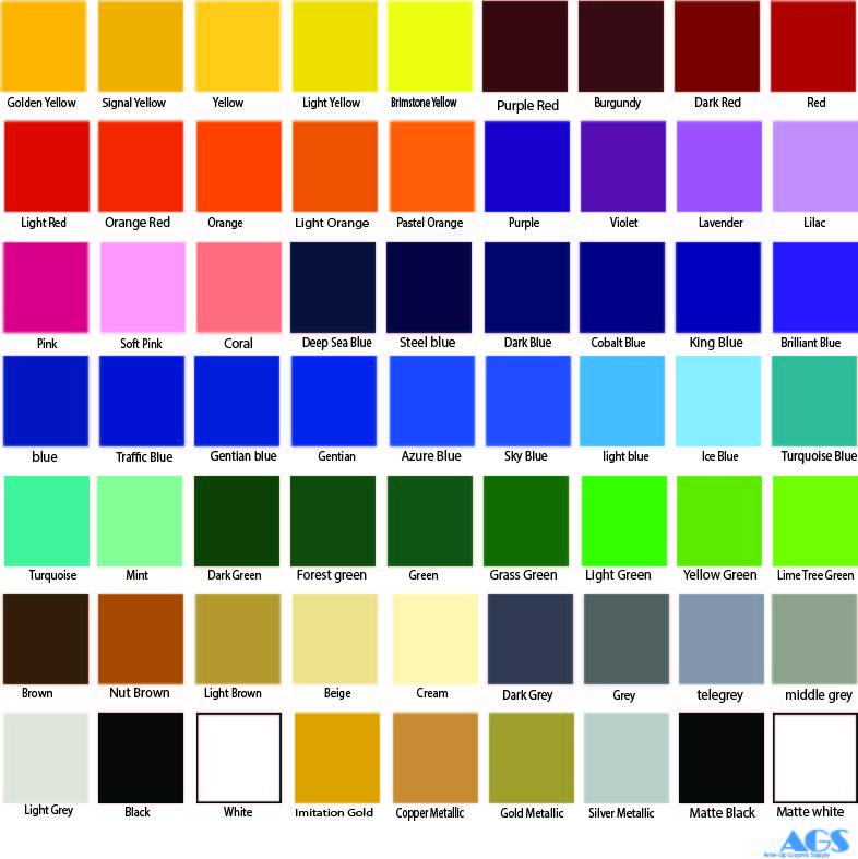 Oracal 651 All Color Bundle 63 Colors 12 Quot X 12 Quot Sheets