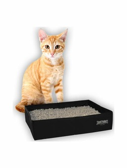Portable kitty litter tray