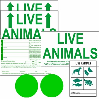 Live Animal Stickers