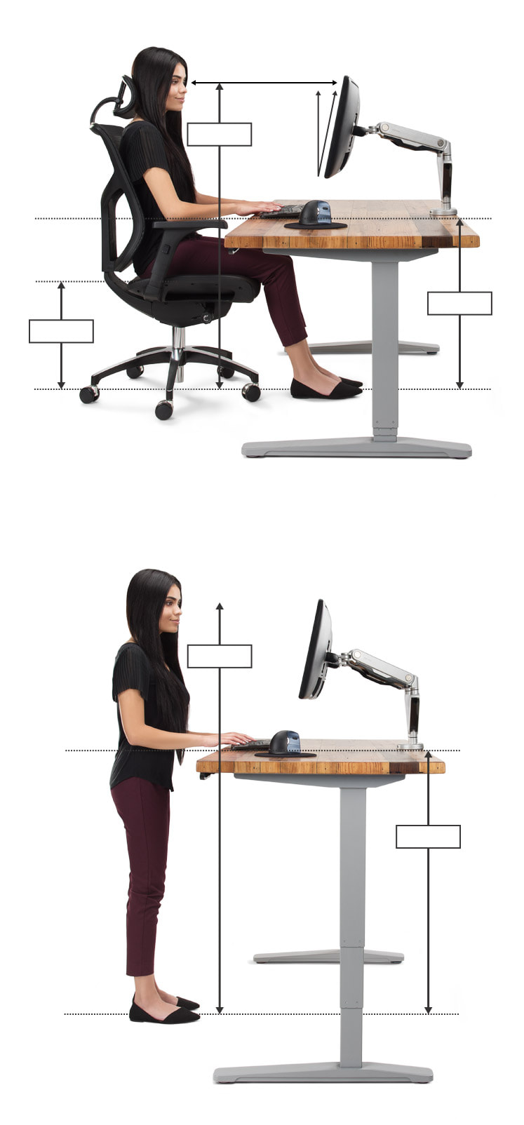 Ergonomic Office Desk, Chair, and Keyboard Height Calculator