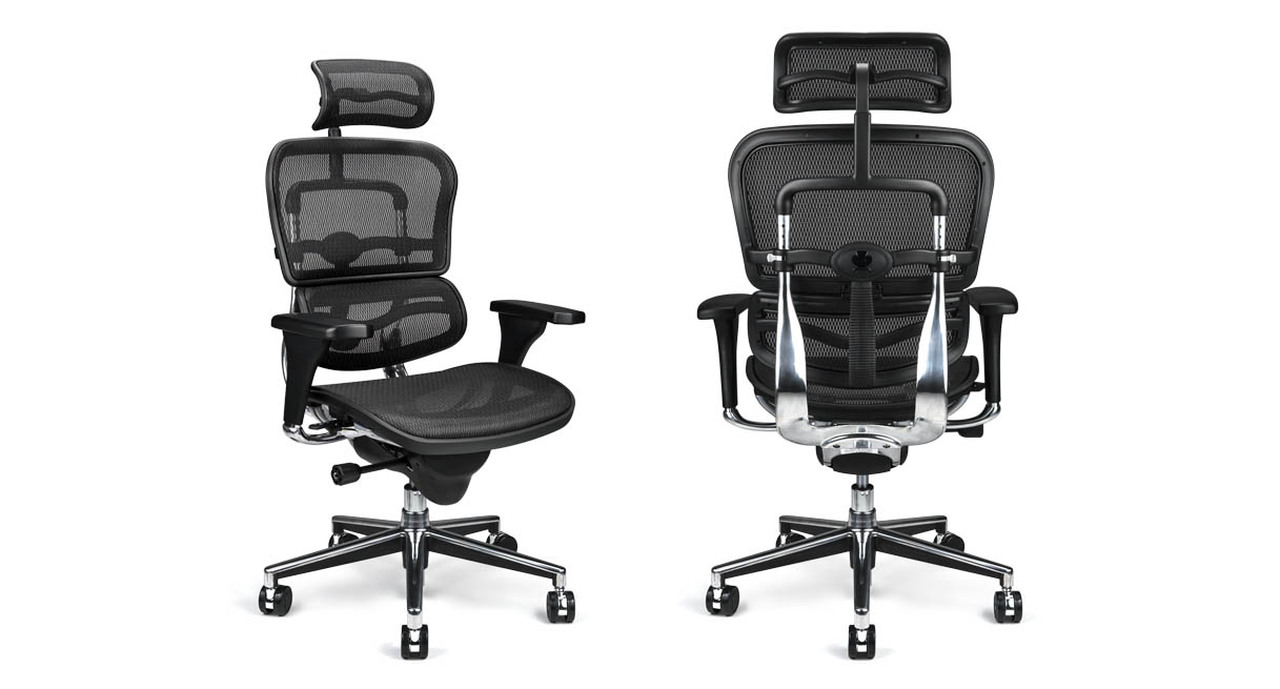 1b1eb4f119e Raynor Ergohuman Chair ME7ERG - Mesh with Headrest