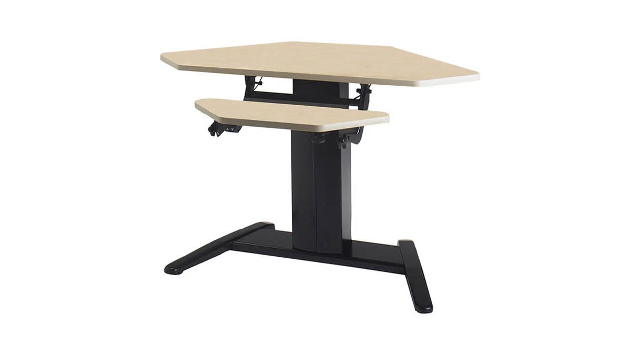 Picture of: Mayline Varitask E Series Electric Height Adjustable Corner Desk