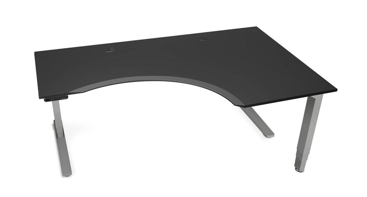 Uplift Curved Corner L Shape Sit Stand Desk Sit To Stand Desk
