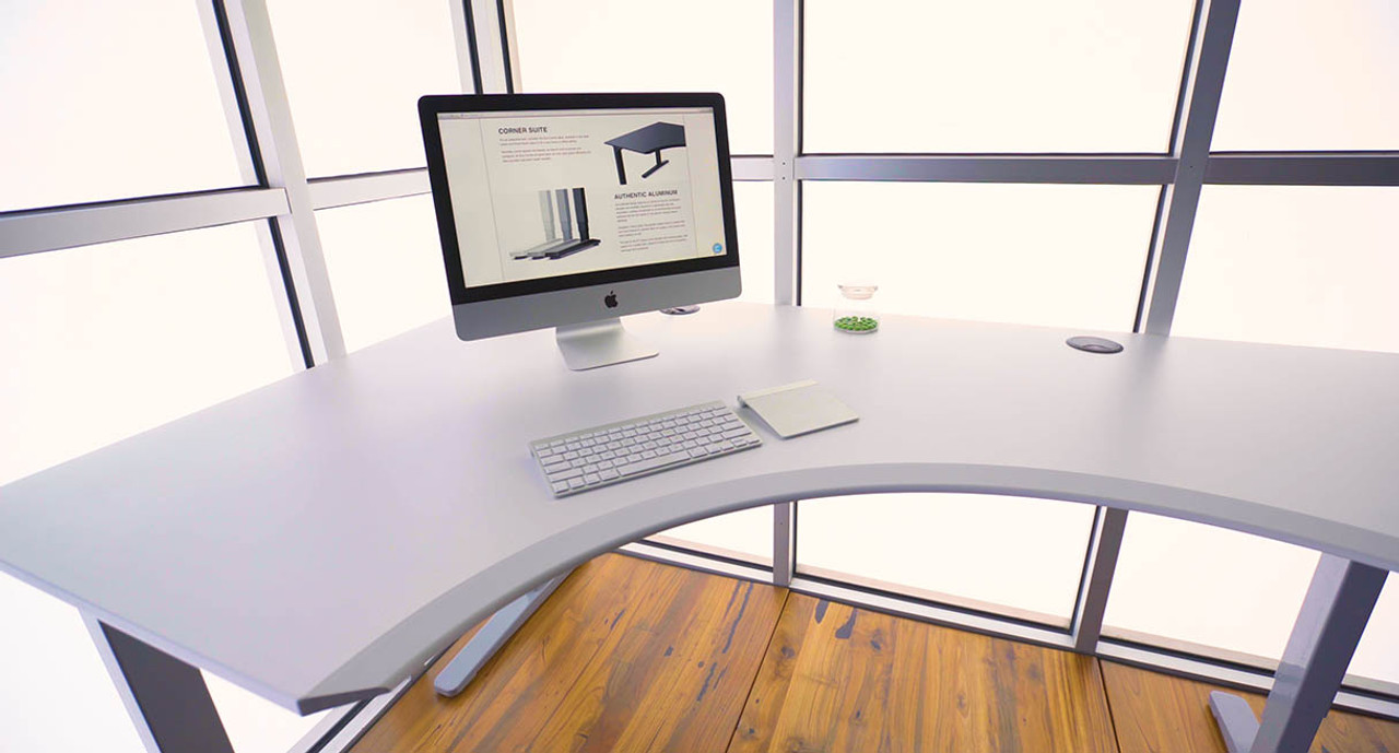 finest selection 60aed 7decd L Shaped Desk With Rounded Corner