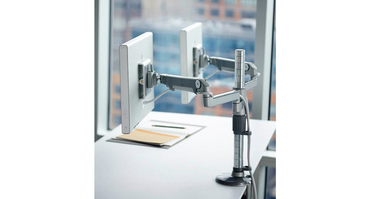 Shop Humanscale M Flex Monitor Arm Two Monitor Solution
