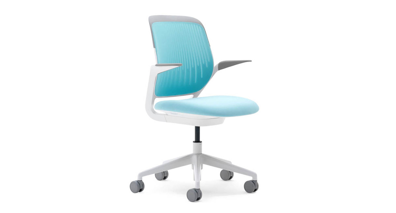 Its weight-activated mechanism senses your center of gravity and adjusts to your ideal positioning  sc 1 st  The Human Solution & Steelcase Cobi Chair | Shop Steelcase Chairs