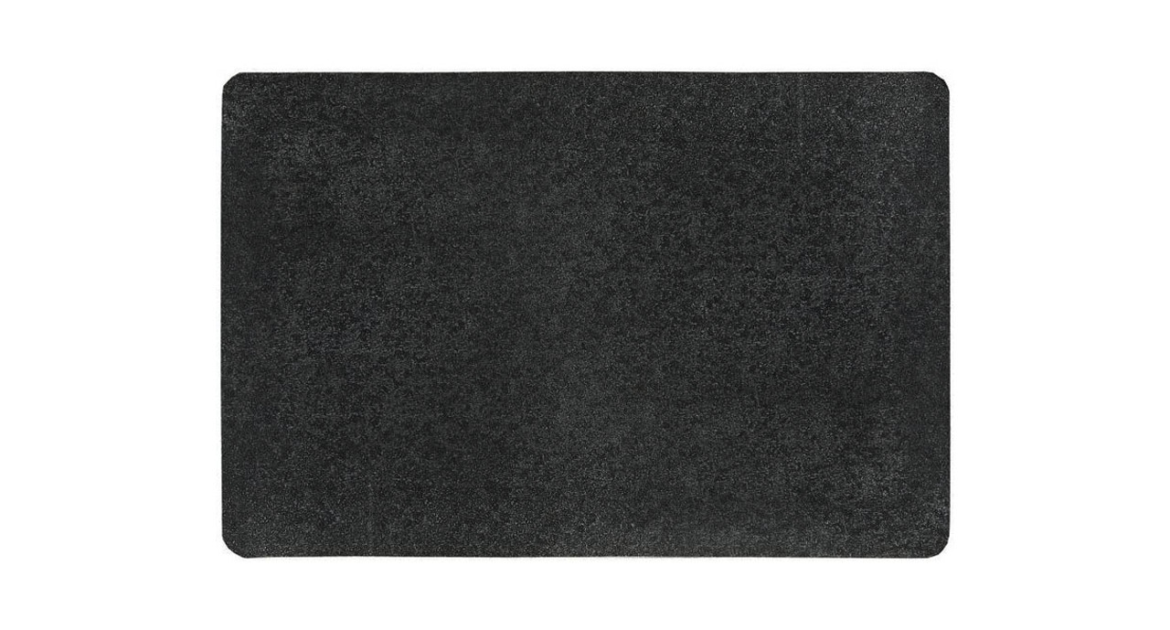 Black NoTrax Rubber 970 Marble Sof-Tyle Grande Anti-Fatigue Mat for Dry Areas 3 Width x 5 Length x 1 Thickness