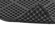 Easy to snap together modular matting system for custom configurations