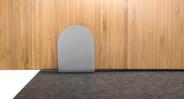 Sleek, simple desk privacy