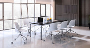 Build the ergonomic office space that supports your body with a set of Humanscale Trea Chairs