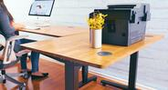 Complete your work area today with an accent table that matches your UPLIFT Desk in all the right ways