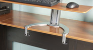 The TaskMate Go Home is front-mounted to desks so your workspace is right where you want it - front and center