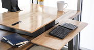 Natural Rubberwood is an eco-friendly desktop that is sustainably sourced and constructed